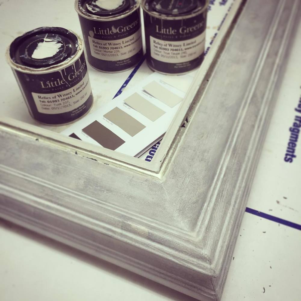 Picture frame using Little Greene paint by  The Cuckoo's Nest .