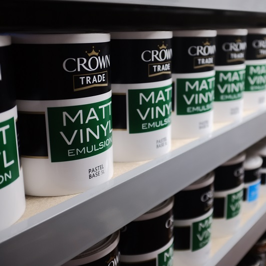 Crown Trade - A premium range of paints, widely used by contractors, decorators and builders.