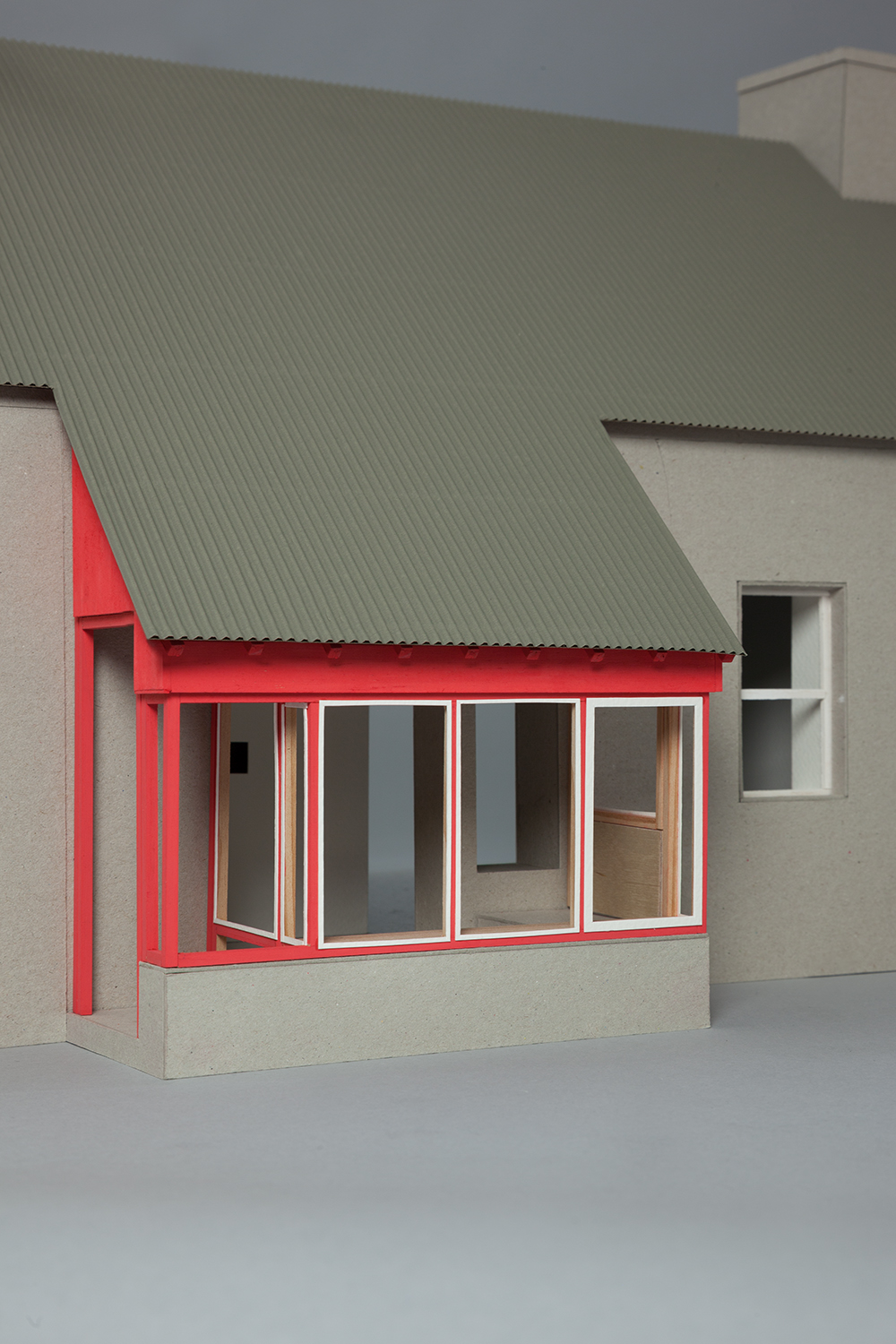 Extension and refurbishment at Meenscovane, Co. Kerry, detail design stage.
