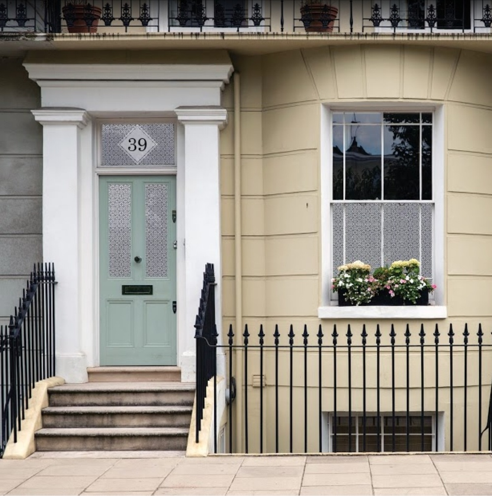 Focus on window styling beautiful foundations if you have a door with window around it or within it stained glass is a great way to get light and privacy the colours will be beautiful in your sciox Choice Image