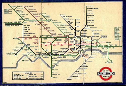 Harry Beck's London Tube Map 1933.