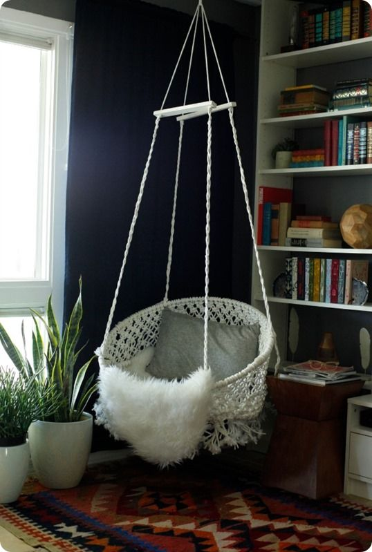 If you need a new chair, why not make it a swinging one?!