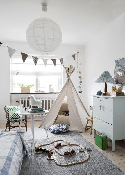 It's easy to make a kid's room fun, though why not make the teepee adult sized?!