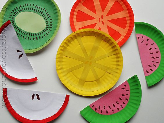 Create your own exotic fruit plates with Crafts by Amanda - too good to eat from.