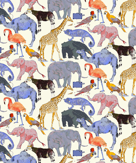 If you long for something exotic,  Queue for the Zoo  fabric at Liberty is perfect for an arm chair or foot stool.