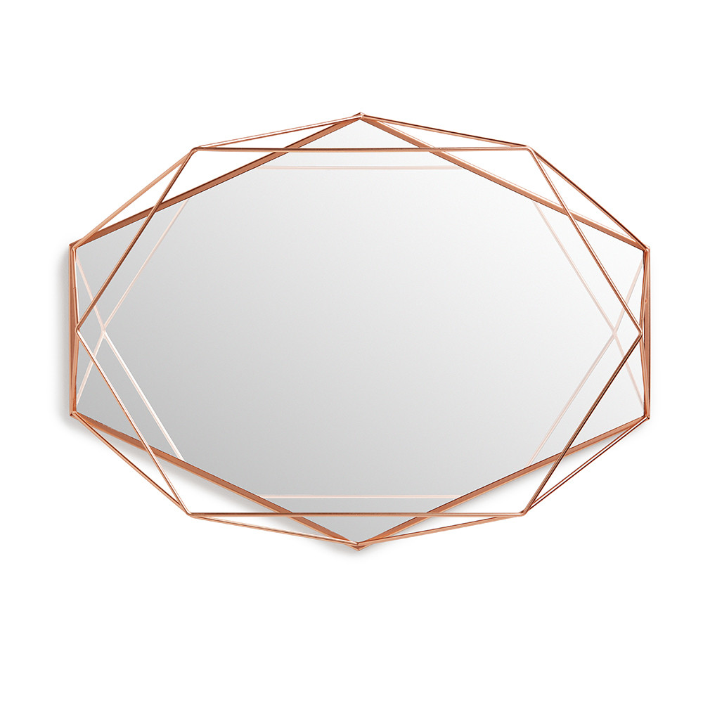 Amara has this desirable  Umbra Prisma  mirror in brass and black also, though copper is by far my favourite.