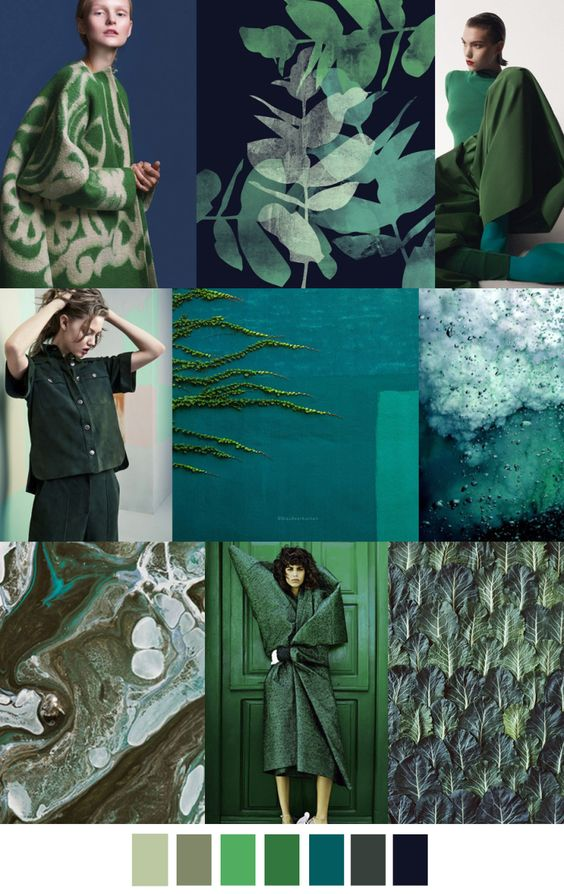 Fashion brands too are harnessing this energy in their clothing ranges for spring and summer. You can wear green to feel green!   Picture: uk.pinterest.com/ninayay/