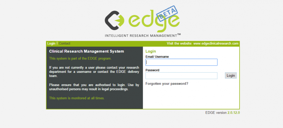 EDGE Beta Login