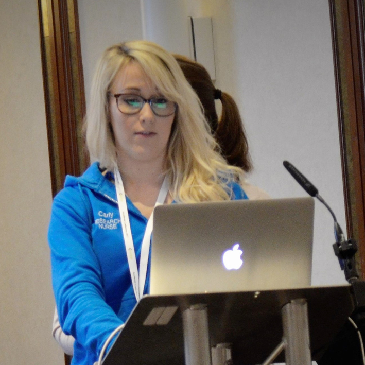 Kerry Gready and Carly Ringrose  (pictured)  CRUK Nurses University of Southampton  Breakout session 10: How the nursing team utilise EDGE    Watch video here