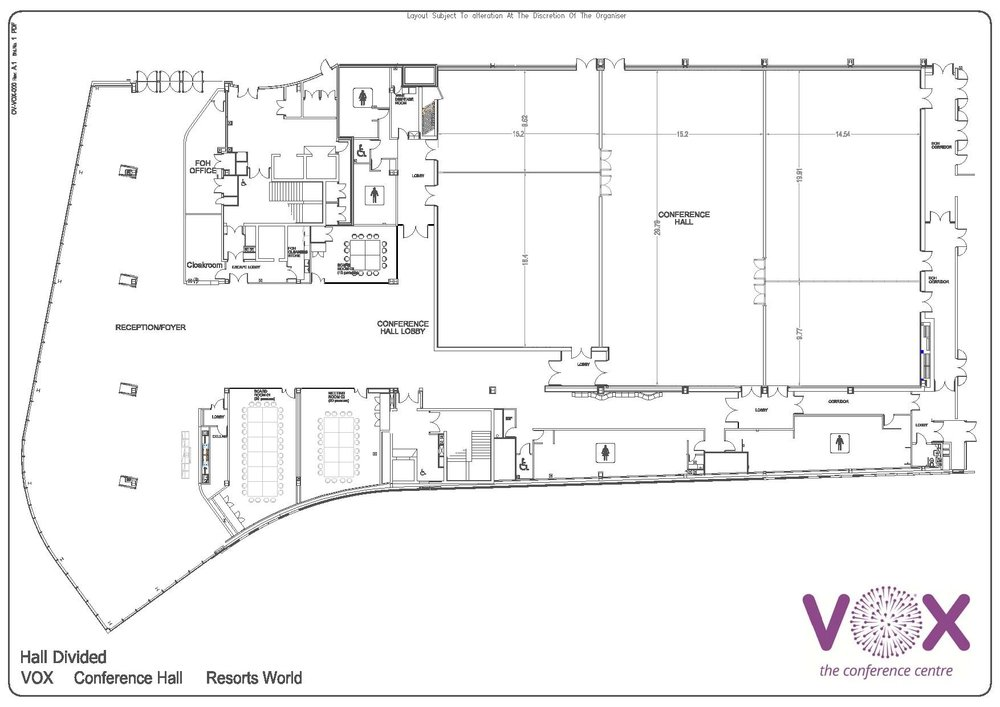The VOX Conference Centre Floor plan