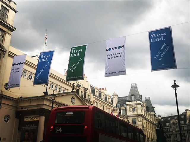 #westend #everyonewelcone #london #everyone #welcome! Love these flags.  Great thing about london is that everyone is here. It takes all sorts. Like a massive bad of #dollymixtures and they taste great!!!! Life would be so boring if it was always just a bag of cherry drops . 😘👍