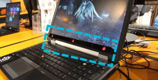 Laptop mounted eye-tracking sensor                       Source: Slash Gear