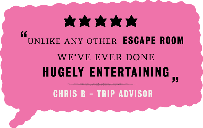 Handmade mysteries London Escape Rooms Trip Advisor five star review