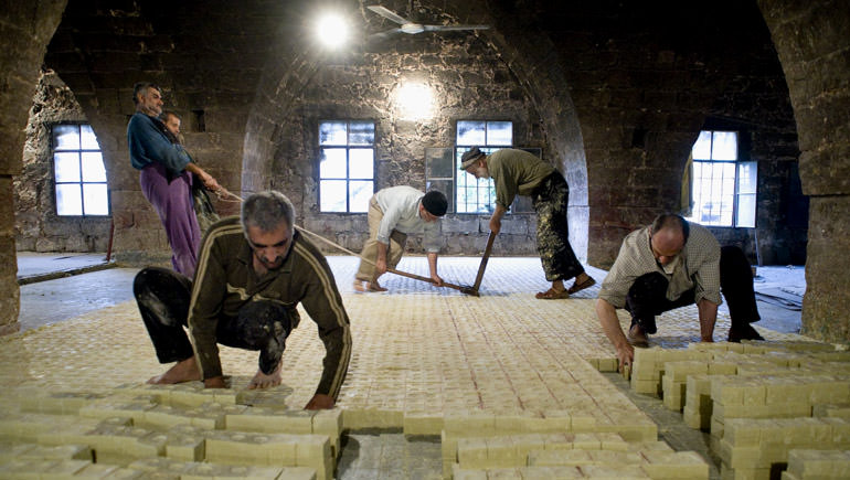Aleppo soap workers