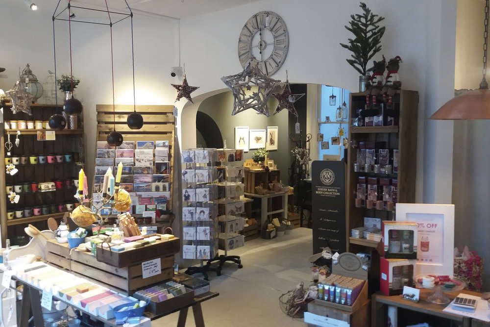 Photos showing inside the candle tree shop