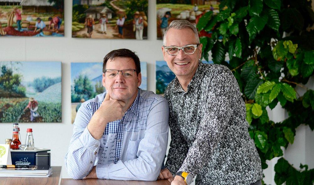 Die Unternehmer und Brüder Michael und Stephan Weber. Foto: © WEBER Packaging GmbH, 2018