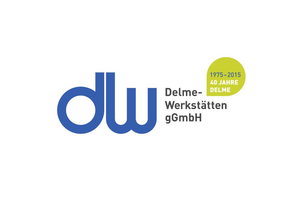 Die Wort-Bild-Marke (Logo). Grafik: © Delme-Werkstätten gGmbH, 2018.