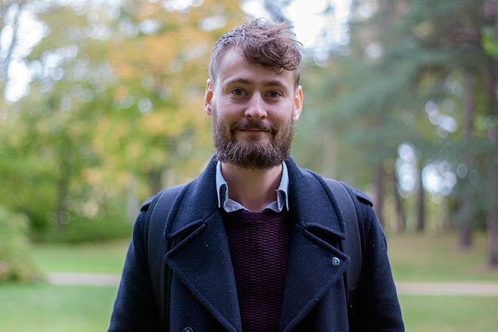 Umweltforscher Noah Linder vom Urban Studio der University of Gävle.  Foto: Anna Sällberg für die © University of Gävle, 2018