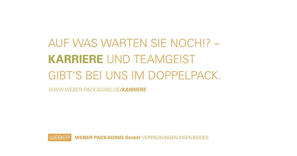 Grafik: © WEBER Packaging GmbH, 2019