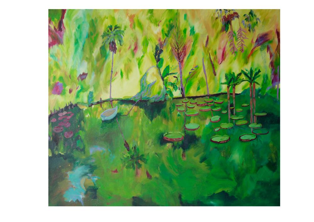Boissier's Botanical Beach, 2014, Oil on canvas, 100 x 85cm