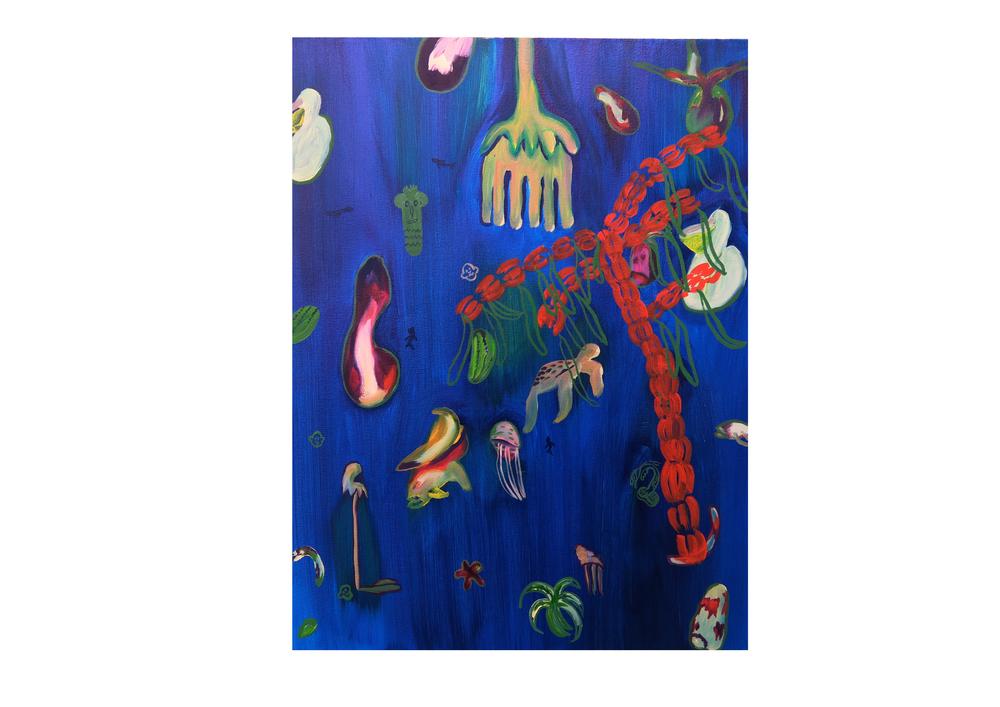 Floating Caribbean, 2016, oil on canvas, 50 x 65cm