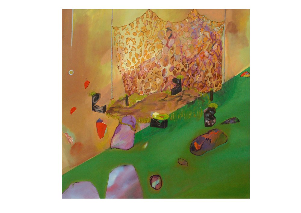 Bricks, 2014, oil on canvas, 90 x 90 cm