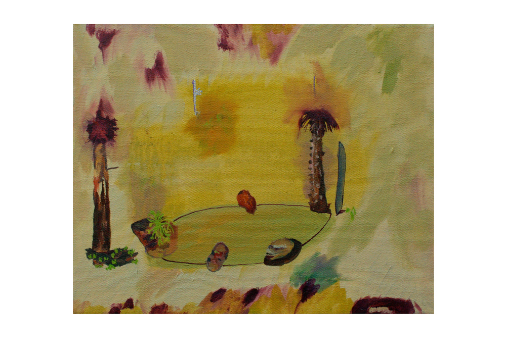 Sacred Spikes, 2015, oil on canvas, 20 x 25cm