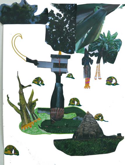 Leggy Beehive, 2016, Collage, 30 x 42 cm