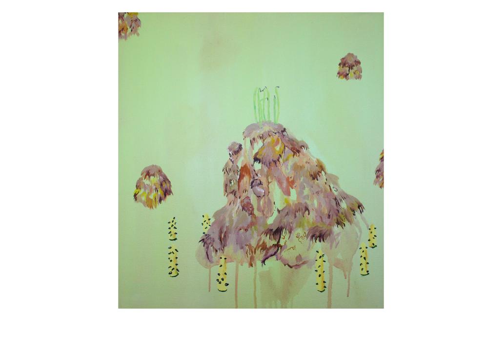 Hairy Sandcastle, 2015, oil on canvas, 50 x 50 cm