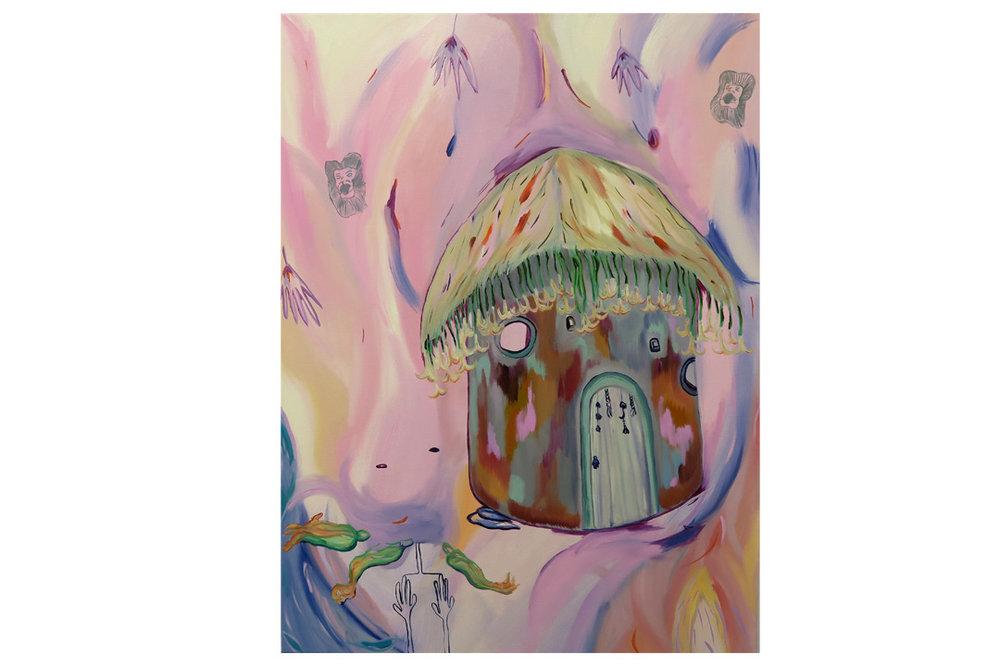 Hut of hallucination, 2016, oil on canvas, 60 x 80 x 4.5 cm