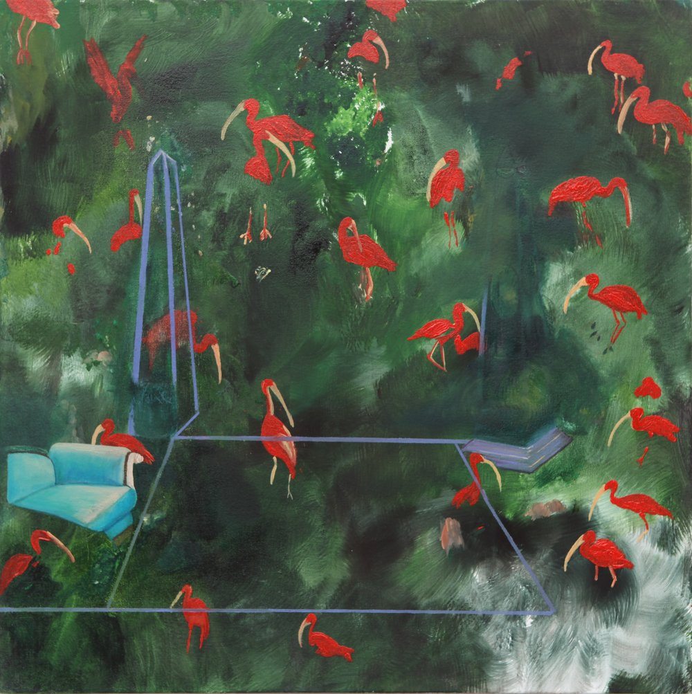 Scarlet Mangrove, 2013, oil on canvas, 50 x 50 x 4cm
