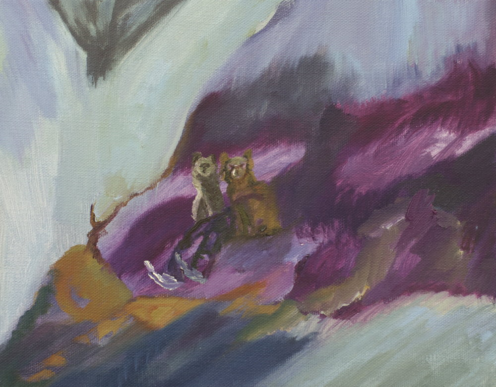 Cape Dog Leg, 2014, oil on canvas, 20 x 25 x 2 cm