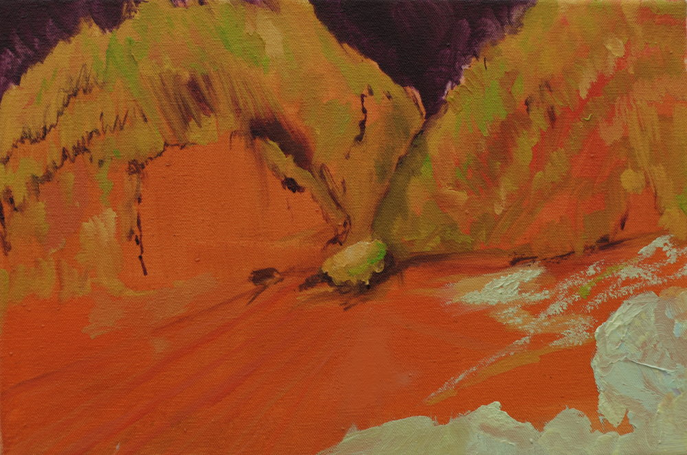 Mount, 2014, oil on canvas, 20 x 25 x 2cm