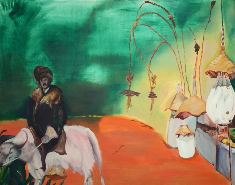 Riding Yak, 2014, oil on canvas, 60 x 75 x 4cm