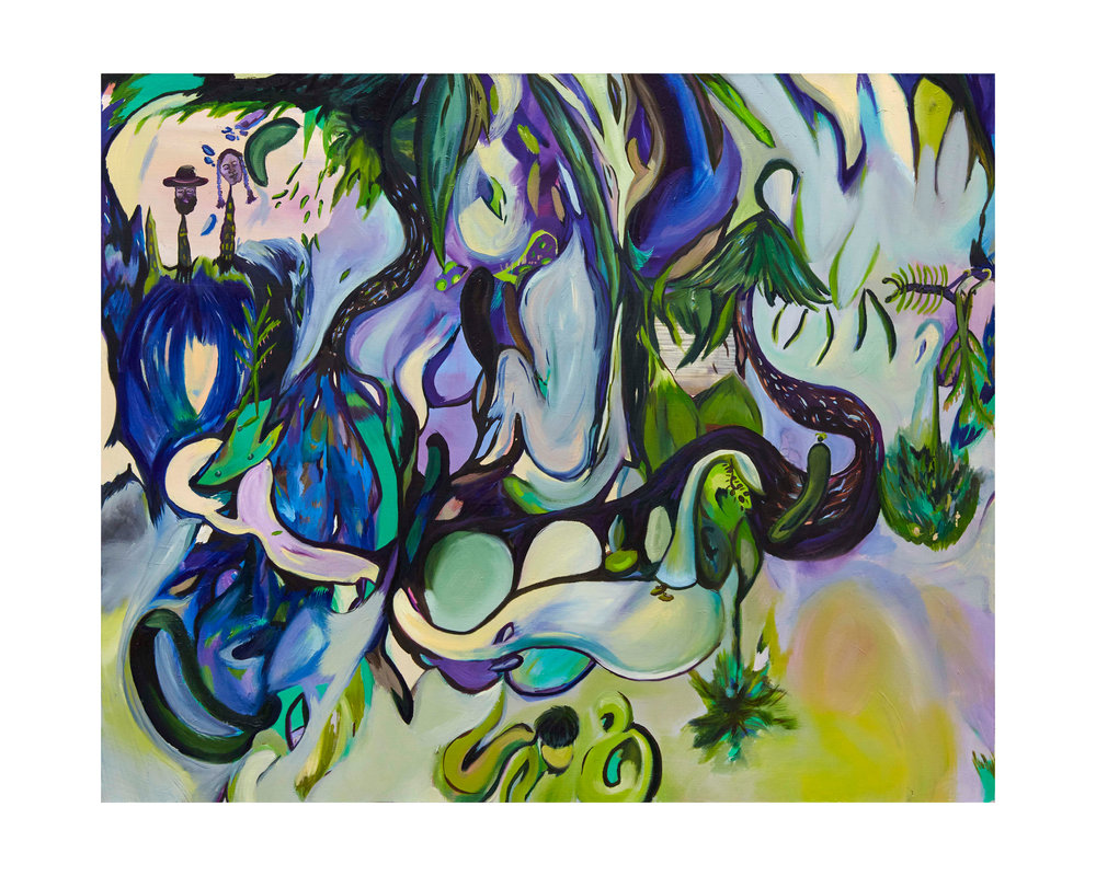 Twisted Hearts & Twisted Tales, 2017, oil on canvas, 110 x 90 x 3.5cm