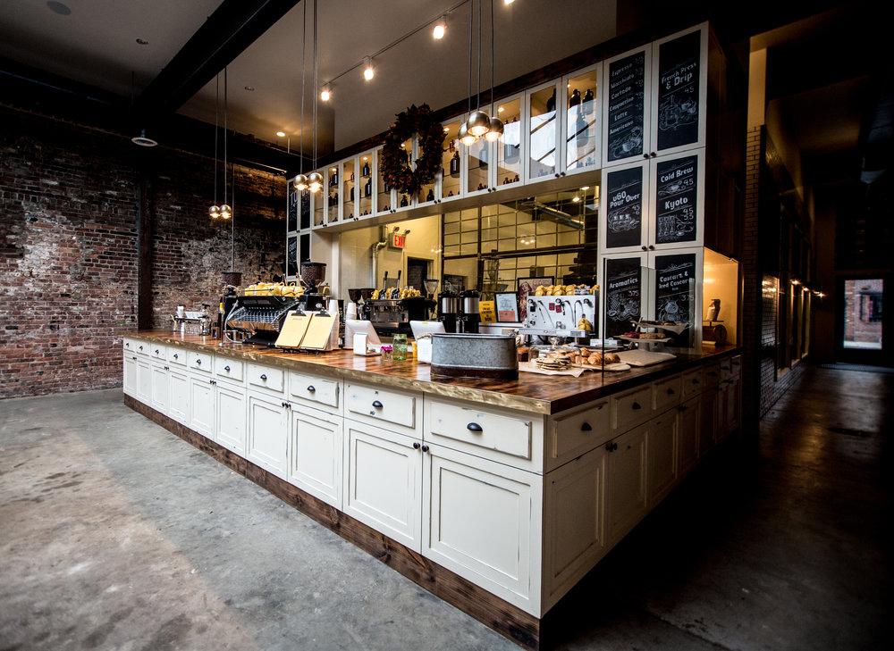 Devoción 's coffee shop in Williamsburg, Brooklyn, NY