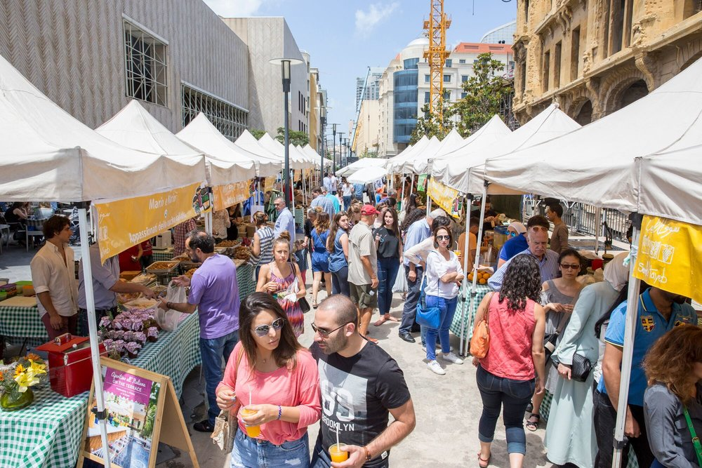 The Souk el Tayeb farmers' market of Beirut