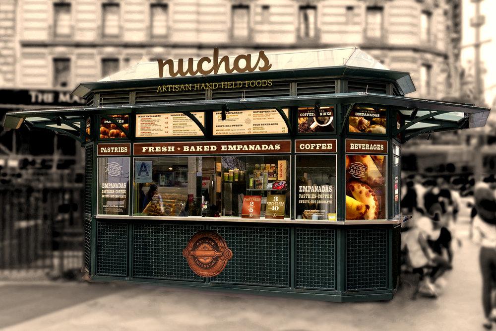 Nuchas's Greeley Square kiosk