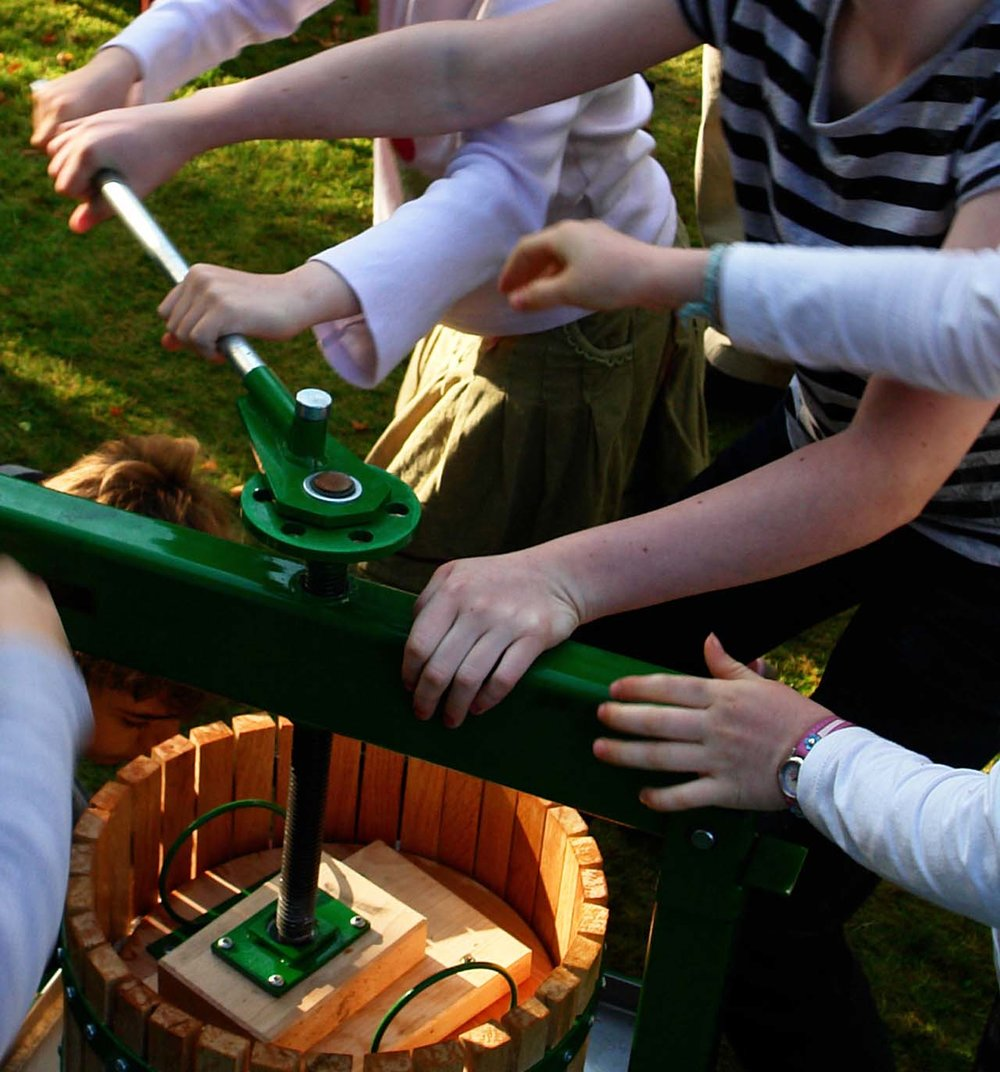 Autumn: Community apple pressing, Kington