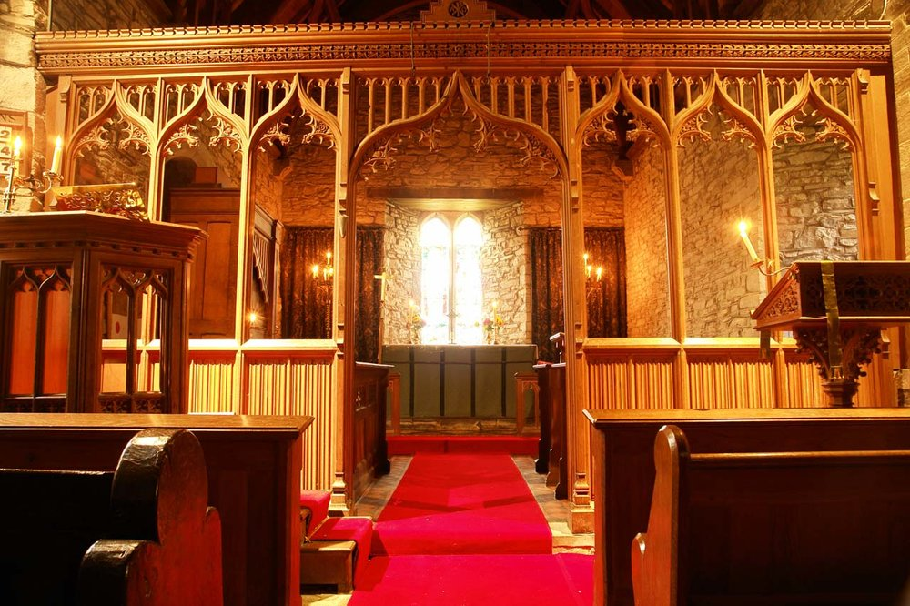 Altar and rood screen
