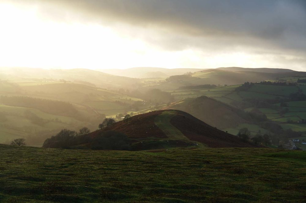 Early Spring South West from Hergest Ridge.