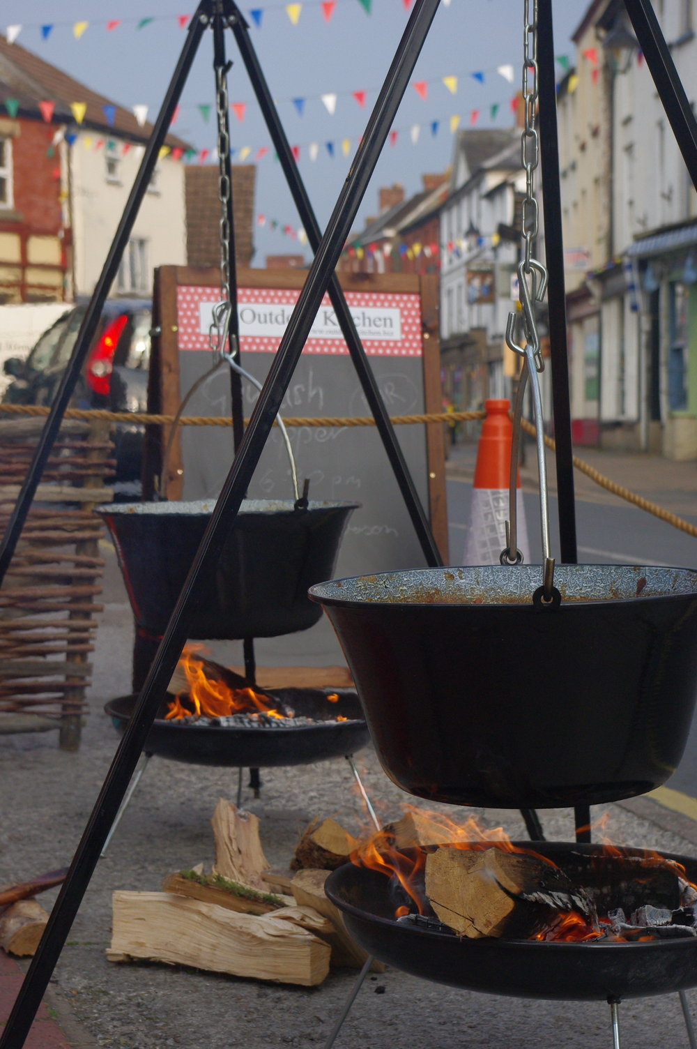 Kington Walking festival, goulash in the making