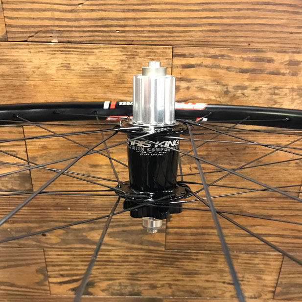Chris King hub with Stan's No Tubes Crest rim