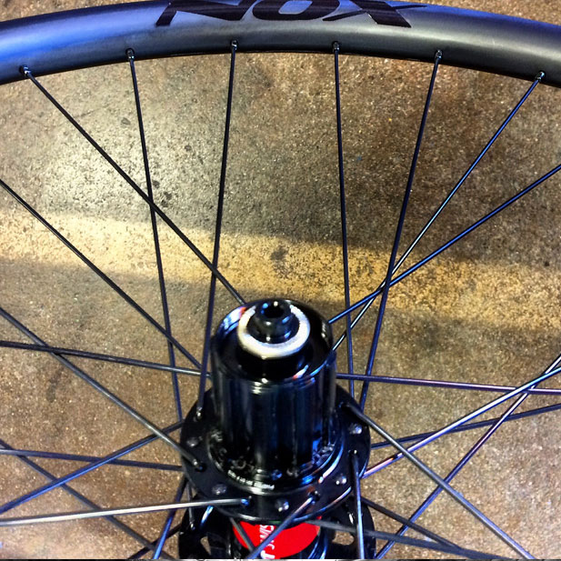 DT Swiss 240 hub with NOX Composites carbon rim