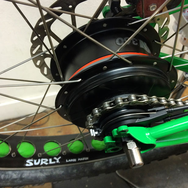 Nu Vinci internally geared hub, Surly Large Marge fatbike rim