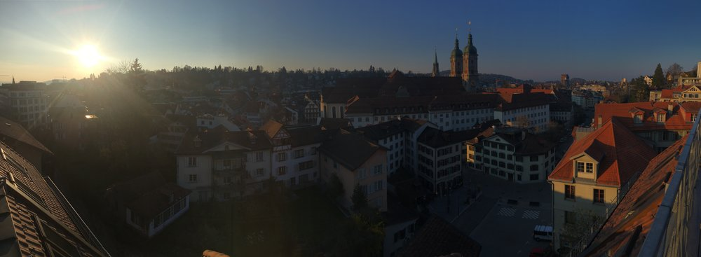 St Gallen from Sandro's roof.
