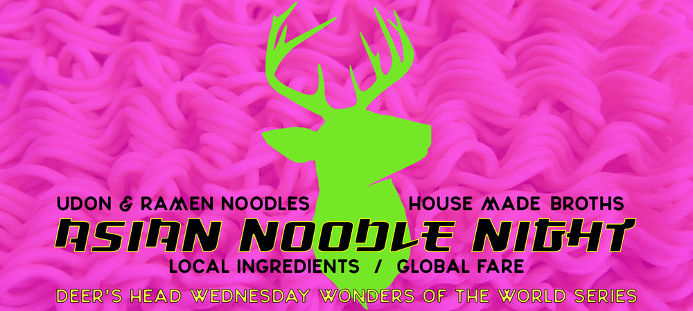Join us on 11/29 as Wednesday Wonders of the World returns with Asian Noodle Night!