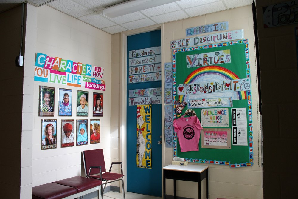 As a school, we have a focus on developing virtues throughout the year. For several weeks, a new virtue is introduced. It is explained on the Monday morning announcements by one of the elementary students and an example is given in order to ensure understanding at all age levels. The virtues are reinforced, complimented, and sometimes rewarded, by all teachers in the school. Virtues are displayed outside the guidance counselor's office in the main hallway. This serves as a reminder throughout the year.  This activity connects to global citizenship because it helps children to develop the qualities and character needed to become caring and active citizens in their own community and world. It helps them understand the meaning and importance of being the best person we can be.
