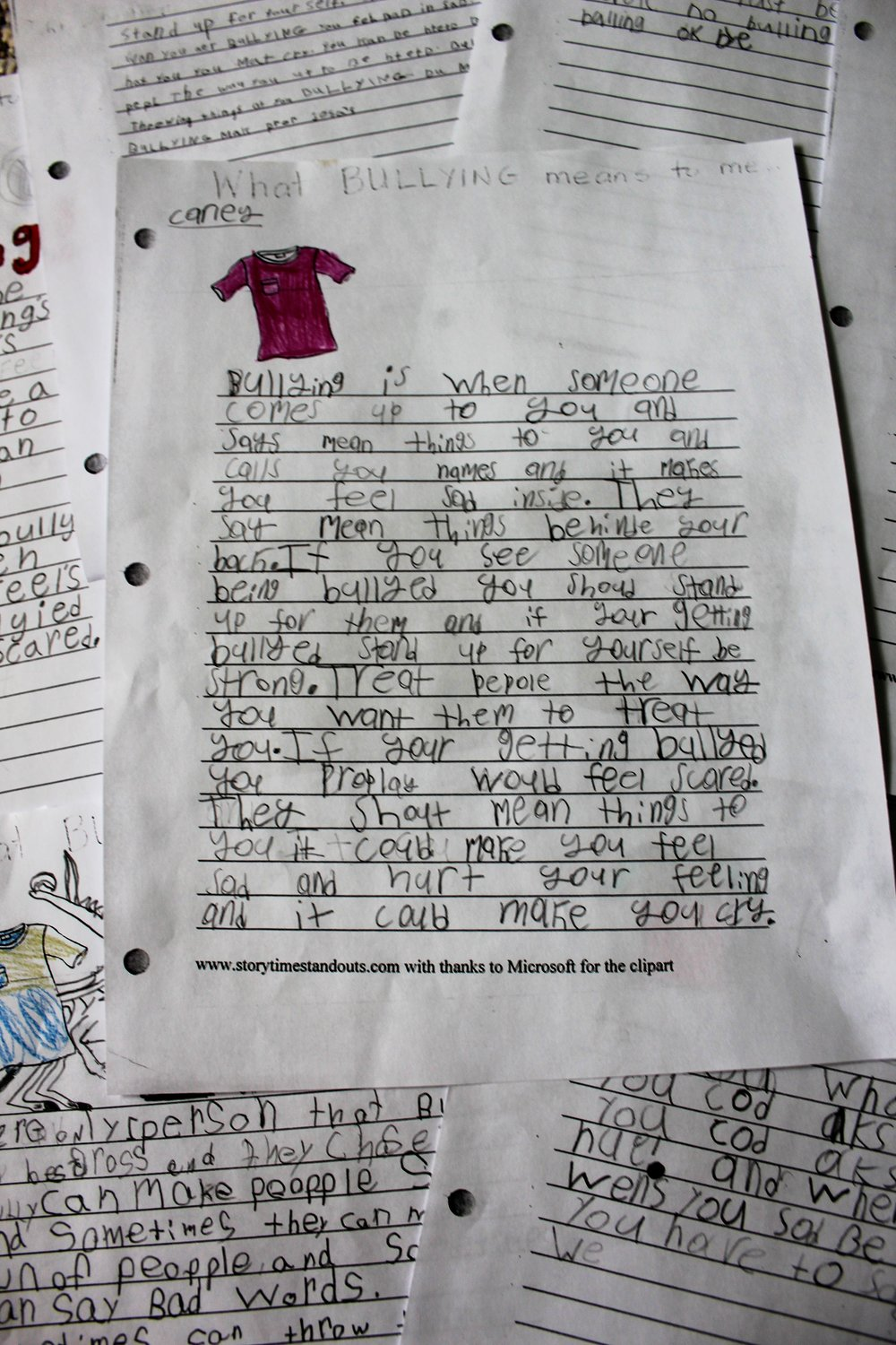 On Pink Shirt Day, the grade 2s watched a brief Brainpop video and read several books about bullying. Then, they wrote about what bullying meant to them...what it is, what it looks like, and what it feels like. Some children also told of a personal experience and/or what they should do if they, or someone they know, becomes bullied.  This activity connects to global citizenship because it helps children to identify what bullying looks and feels like and instils a responsibility to stand up for themselves and others. One of the main reasons people are bullied is because they are different in some way. Bullying relates directly to discrimination and prejudice, which we have also covered when reading books about Rosa Parks, Martin Luther King Jr., and Ruby Bridges.