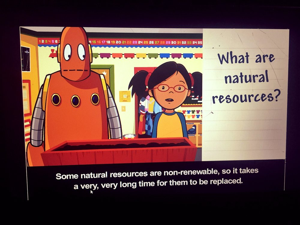 Students watched a Brainpop Jr video about Natural Resources and then listened to the book: Protect Our World, which is part of the Grade 2 Social Studies Program. We brainstormed natural resources and then the children had to choose one resource and identify 4 ways to preserve or conserve that resource.  This activity relates to global citizenship because it helps children to understand what natural resources are and why it is important for us to protect and care for them. It also allows them to think of things that they already do (or could start doing) that would help the environment.